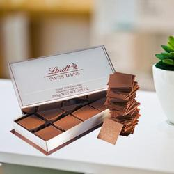 Luxurious Lindt Swiss Milk Thin Chocolates to Garia