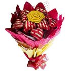Delicious 12 Pcs Heart Shaped Chocolates Bouquet to North 24 parganas