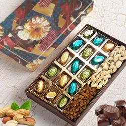 Appetizing Assorted Homemade Chocolates with Assorted Dry Fruits to North 24 parganas