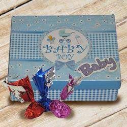 Tempting Baby Boy Homemade Chocolate Gift Box to Dumdum