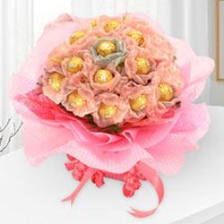 Enchanting Delicacies Ferrero Roacher Chocolate Bouquet to Birbhum
