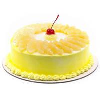 Appetizing Pineapple Cake from Taj or 5 star Hotel bakery to Koch bihar