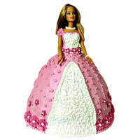Colorful Barbie Cake to Dakshin dinajpur