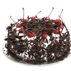 Palatable Pamper 1/2 Kg Eggless Black Forest Cake to Howrah