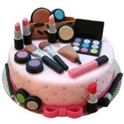 Gratifying Display Makeup Set Theme Cake to Birati
