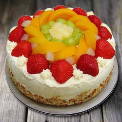 Confectionery Bliss 1 Kg Eggless Fresh Fruit Cake to Bakura