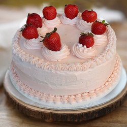 Yearning's Satisfaction 1 Lb Strawberry Cake from 3/4 Star Bakery to Howrah