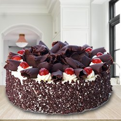 Extraordinary 2.2 Lbs Black Forest Cake with Decoration from 3/4 Star Bakery to Howrah