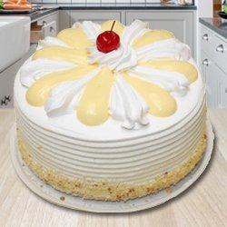 Tempting 2 Kg Vanilla Cake from 3/4 Star Bakery to Jalpaiguri