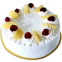 Pineapple Delicacy Eggless Cake to Cooch behar