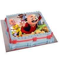 Well-Design Motu Patlu Cake to Cooch behar