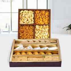 Assorted Dry Fruits with Assorted Sweets to Lake town