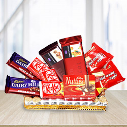 Mouth-Watering Variety of Chocolates Treats Gift Hamper to Behala