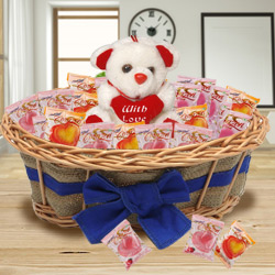 Charming Tower of Chocolates and Teddy to Garia
