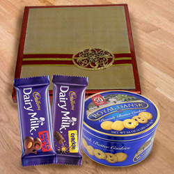 Exceptional Present of Dry Fruits with Cookies  N  Chocolates to Cooch behar