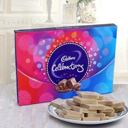 Haldirams Kaju Katli and a Box of Cadburys Celebrations to Hooghly