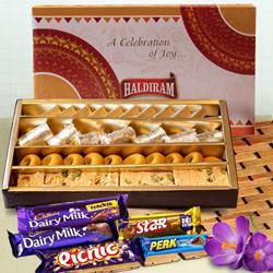 Haldirams Assorted Sweets with Cadbury Celebration to South 24 parganas