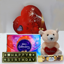 Say Happy Birthday with Teddy and Chocolate HAmper to Howrah