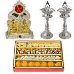 Designer and Pious Puja Hamper with Sweets to Salt lake