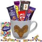 Spectacular Mug with Aries Zodiac Sign Print and Mouth-watering Chocolates Hamper to Salt lake
