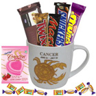Mouth-watering Chocolates and Mug with Cancer Zodiac Sign Print Gift Combo to Behala