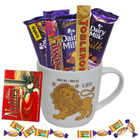 Divine Collection of Chocolates with Leo Zodiac Sign Printed Mug to Behala