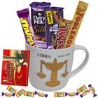Remarkable Collection of Chocolates with Libra Sun Sign Printed Mug to Burdwan