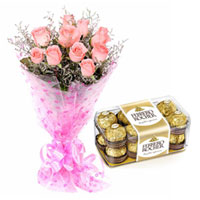 Silky-Smooth Pink Rose and Ferrero Roacher Chocolate to Cooch behar