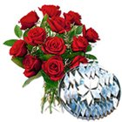 Darling Red Roses together with ambrosial Kaju Barfi to Darjiling