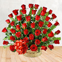 Enchanting 50 Red Roses Delight Bouquet with Love to Garia