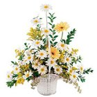 Bouquet of happiness with white and yellow Flowers to Puruliya