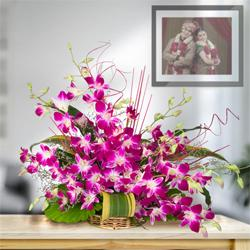 Exotic 10 Stunning Orchids in a Beautiful Arrangement to North 24 parganas