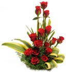 Luminous Forever in Love 15 Red Roses in a Basket to South 24 parganas