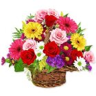 Basket of Sizzling Mixed Flowers to Salt lake