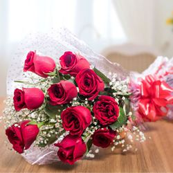 Timeless Romance Red Rose Bouquet to Salt lake