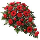 Flat Arrangement of 24 Red Flowers to Burdwan