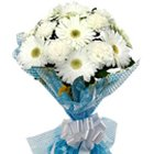 Distinctive Sweet Escape White Gerberas with Fillers to Garia