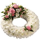 Wreath of Pastel Colour Flowers to Bakura