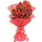 Luminous Pure Passion Bouquet of Gerberas to South 24 parganas