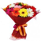 Sophisticated Presentation of Mixed Gerberas to Hooghly