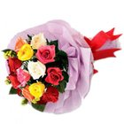 Wondrous Pleasure Mixed Roses Premium Bouquet to Siliguri