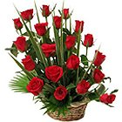 Captivating Unending Passion Roses Basket to Birbhum