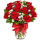 Tender Elegance Dutch Red Roses Bouquet to Hooghly