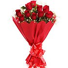Breathless Luxury Red Roses Bouquet to Maldah