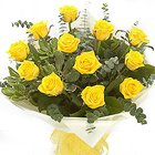 Vibrant Spirit of Happiness Bunch of 12 Yellow Roses to Hooghly