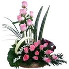 Passionate Be Mine Forever Premium Arrangement of Pink Roses to Nadia