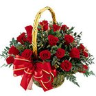 Aromatic Presentation of Red Roses in a Basket to Salt lake