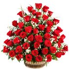 Chic Composition of Red Roses Basket to Jalpaiguri