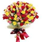 Fashionable Arrangement of Premium Roses in Mixed Colour to Dakshin dinajpur