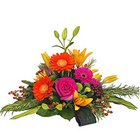 Blushing Mixed Romantic Flower Collection in a Basket with Fillers to Siliguri